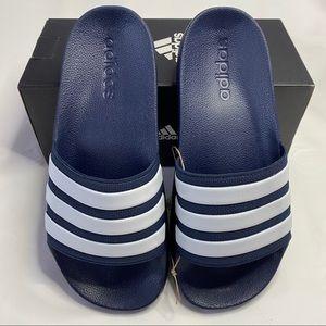 Adidas Adilette Shower Slides Navy Blue 6 NIB